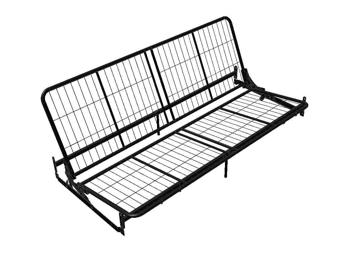 Dorel Home Products Black Metal Futon Frame for Wood Arms Best