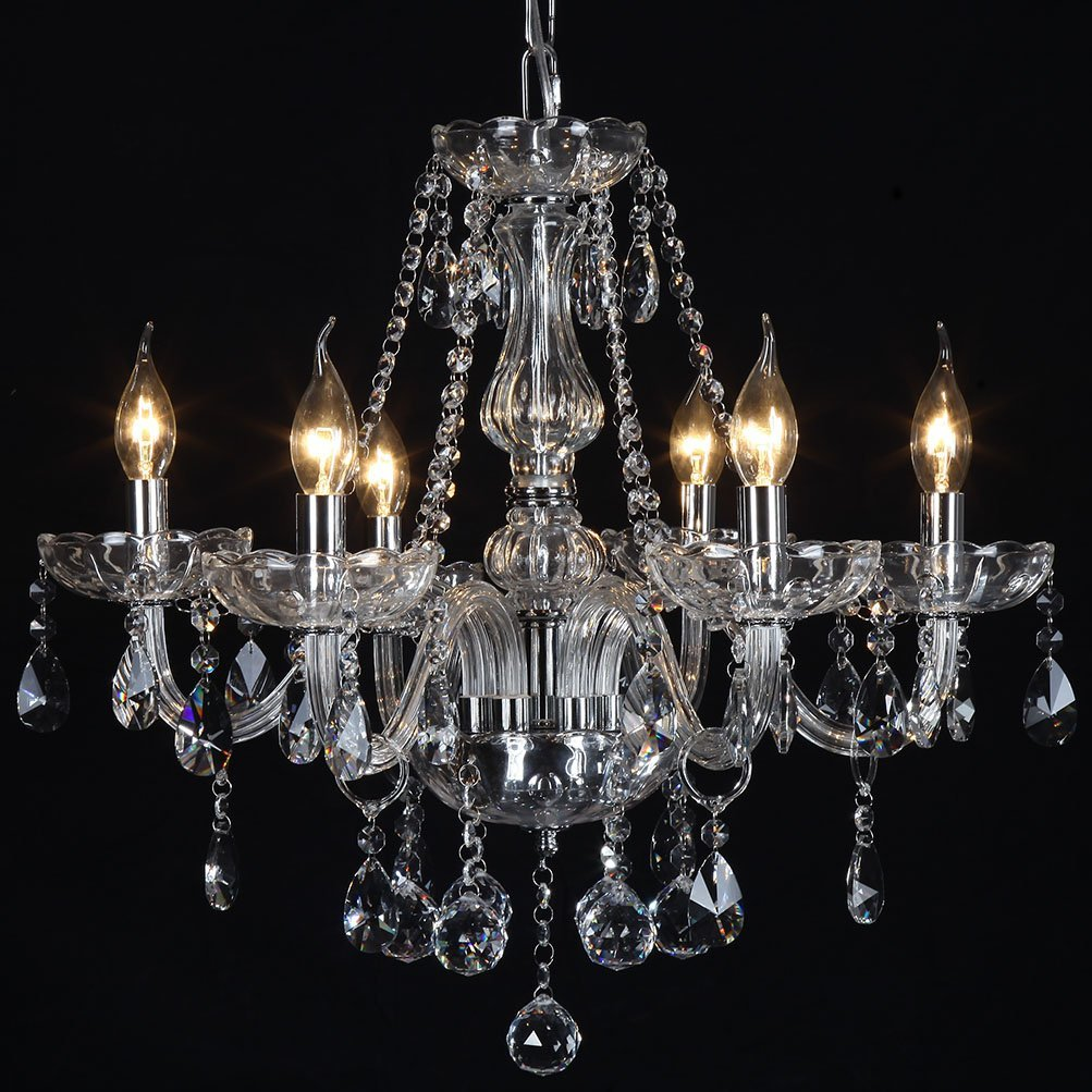 Ella Fashion Classic Vintage Crystal Candle Chandeliers