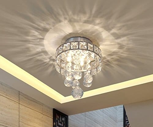 Mini Style 3-Light Chrome Finish Crystal Chandelier
