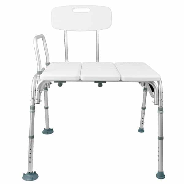 Tub Transfer Bench by Vive - Bath & Shower Transfer Bench - Adjustable Handicap Shower Chair